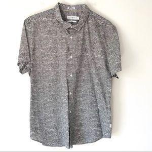 Calvin Klein Slim Fit Black  Button Down Shirt XL